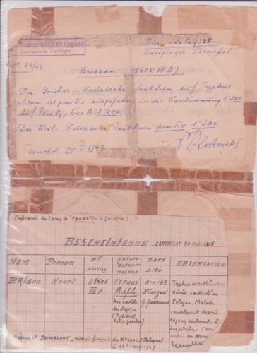1943 typhus