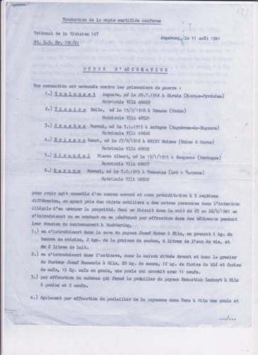 Crastes Brisson accusés août 1941