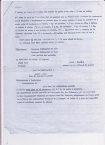 accusation août 1941 suite