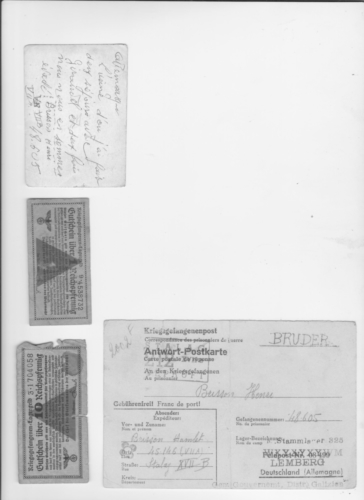 verso page billets, courriers